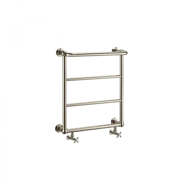 Arcade Babble Nickel Traditional Heated Towel Rail - 667 x 600mm